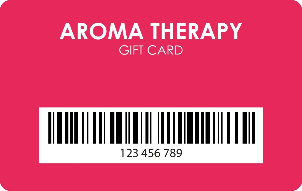 Plastic Gift card with barcode